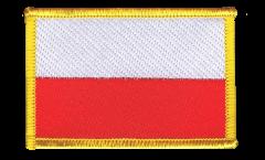 Écusson brodé Pologne - 8 x 6 cm