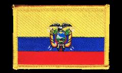 Écusson brodé Équateur - 8 x 6 cm