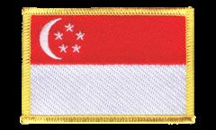 Écusson brodé Singapour - 8 x 6 cm