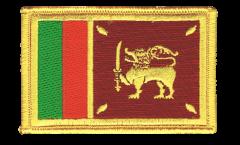 Écusson brodé Sri Lanka - 8 x 6 cm