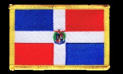 Écusson brodé Dominicaine - 8 x 6 cm