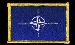 Écusson brodé OTAN - 8 x 6 cm