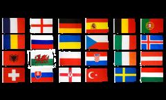 Kit Drapeaux Football 2016 - 30 x 45 cm
