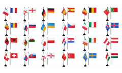 Kit Drapeaux de table Football 2016, mini drapeaux - 10 x 15 cm