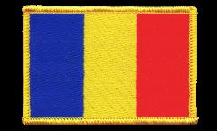 Écusson brodé Roumanie - 8 x 6 cm