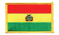 Écusson brodé Bolivie - 8 x 6 cm