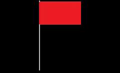 Drapeau en papier Unicolore Rouge - 12 x 24 cm