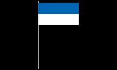 Drapeau en papier Bande bleue blanche - 12 x 24 cm