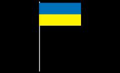 Drapeau en papier Ukraine - 12 x 24 cm