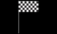 Drapeau en papier Damier F1 - 12 x 24 cm