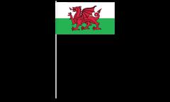 Drapeau en papier Pays de Galles - 12 x 24 cm