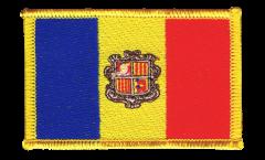 Écusson brodé Andorre - 8 x 6 cm
