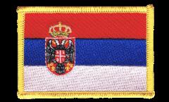 Écusson brodé Serbie avec blason - 8 x 6 cm
