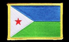 Écusson brodé Djibouti - 8 x 6 cm