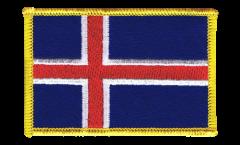 Écusson brodé Islande - 8 x 6 cm