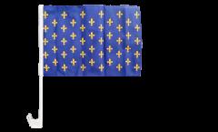 Drapeau de voiture France Fleur-de-Lys, bleu - 30 x 40 cm