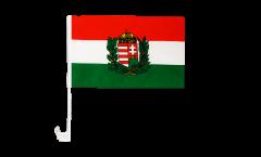 Drapeau de voiture Hongrie avec Blason - 30 x 40 cm