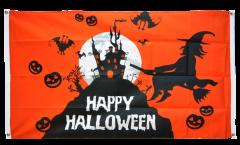 Drapeau de balcon Happy Halloween orangé - 90 x 150 cm