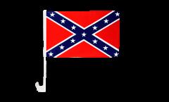 Drapeau de voiture confédéré USA Sudiste - 30 x 40 cm