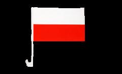 Drapeau de voiture Pologne - 30 x 40 cm