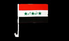 Drapeau de voiture Irak ancien 1991-2004 - 30 x 40 cm