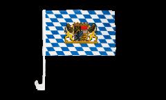 Drapeau de voiture Bavière avec Lion - 30 x 40 cm