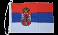 Drapeau pour bateau Serbie avec blason - 30 x 40 cm