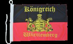 Drapeau pour bateau Allemagne Wurtemberg 4 - 30 x 40 cm