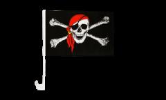 Drapeau de voiture Pirate avec foulard - 30 x 40 cm
