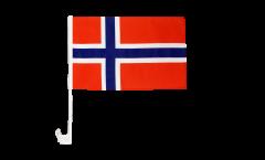 Drapeau de voiture Norvège - 30 x 40 cm
