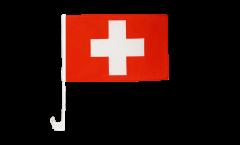 Drapeau de voiture Suisse - 30 x 40 cm