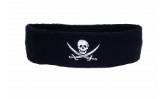 Bandeau de transpiration Pirate avec deux épées - 6 x 21 cm