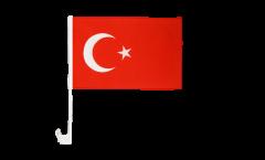 Drapeau de voiture Turquie - 30 x 40 cm