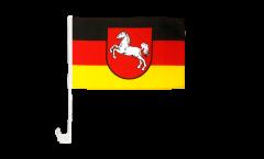 Drapeau de voiture Allemagne Basse-Saxe - 30 x 40 cm