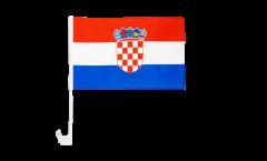 Drapeau de voiture Croatie - 30 x 40 cm