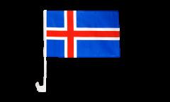 Drapeau de voiture Islande - 30 x 40 cm