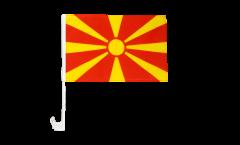 Drapeau de voiture Macédoine du Nord - 30 x 40 cm