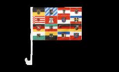 Drapeau de voiture Allemagne les 16 Régions - 30 x 40 cm