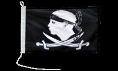 Drapeau pour bateau Pirate Corse - 30 x 40 cm