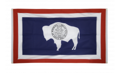 Drapeau de balcon USA US Wyoming - 90 x 150 cm