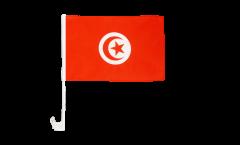 Drapeau de voiture Tunisie - 30 x 40 cm