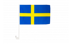 Drapeau de voiture Suède - 30 x 40 cm