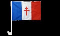 Drapeau de voiture France libre 1940-43 - Croix de Lorraine - 30 x 40 cm