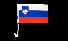 Drapeau de voiture Slovénie - 30 x 40 cm