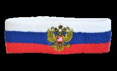 Bandeau de transpiration Russie avec blason - 6 x 21 cm