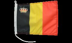 Drapeau pour bateau Belgique avec couronne - 30 x 40 cm