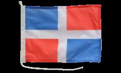 Drapeau pour bateau Dominicaine sans Blason - 30 x 40 cm