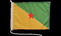 Drapeau pour bateau France Guyane - 30 x 40 cm