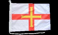 Drapeau pour bateau Royaume-Uni Guernsey - 30 x 40 cm