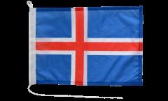Drapeau pour bateau Islande - 30 x 40 cm